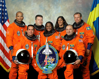 STS-116 shuttle crew photo