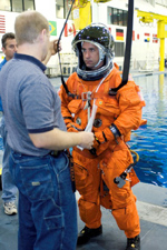 Bill Oefelein in astronaut gear